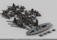 商业配景建筑max模型