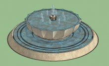 喷泉叠水池