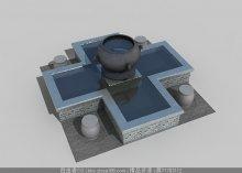 水池水景3d模型