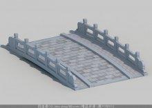中式小桥3d模型