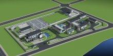 沙溪污水处理厂全套建筑3d模型